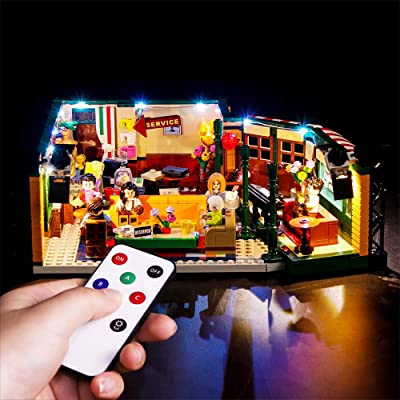Vonado Led Lighting Kit for Lego 21319 Central Perk Ideas Series Lighting Group Toys Indoor Interior Gift to Friends Adult Boys and Girls Festival Christmas(Lights Only): Toys & Games