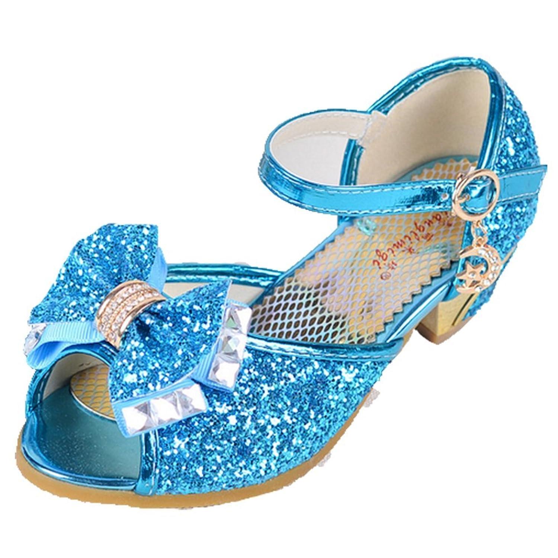 OPSUN Sandales Chuaussures princesse Enfants Filles Ballerines à bride Chaussure Cérémonie Mariage Escarpin Babies