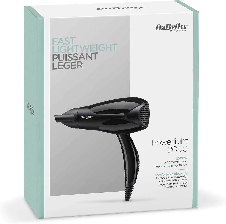 BaByliss Sèche cheveux Powerlight 2000 Design Léger