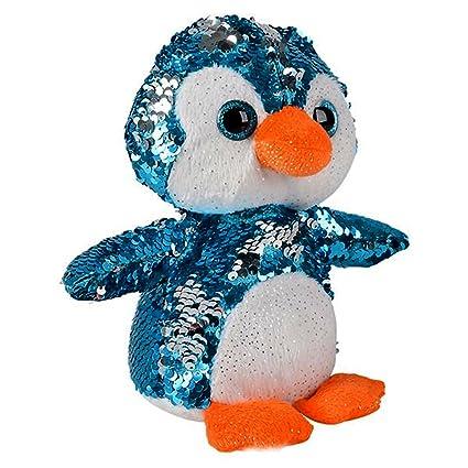 Amazon Com Sequin Plush Penguin Adorable Stuffed Animal Reversible
