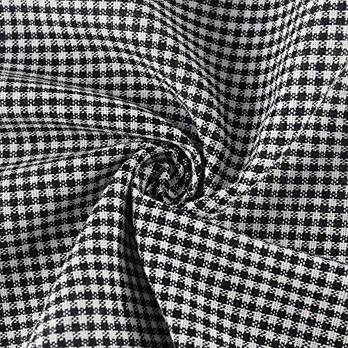 Longra ♥♥Mujeres Tela escocesa, manga de moda separada, culo Top camisa corta blusa negro