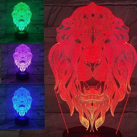 Confident New Energy Saving Lamp 2 3d Light Colorful Touch Led Visual Light Gift Atmosphere Desk Lamp Novelty Lighting