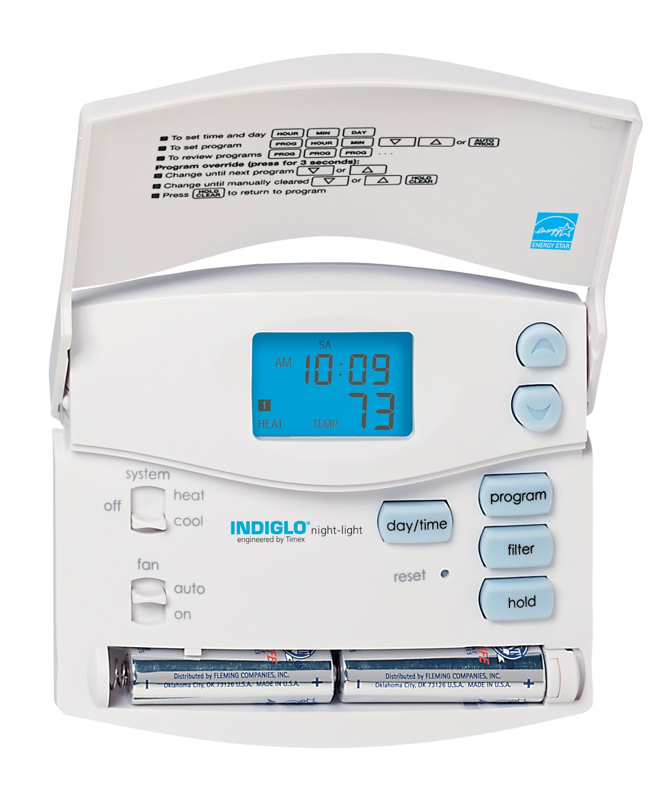 Hunter 44157-5/2-Day Digital Programmable Thermostat (Home Thermostat, AC, Heat)