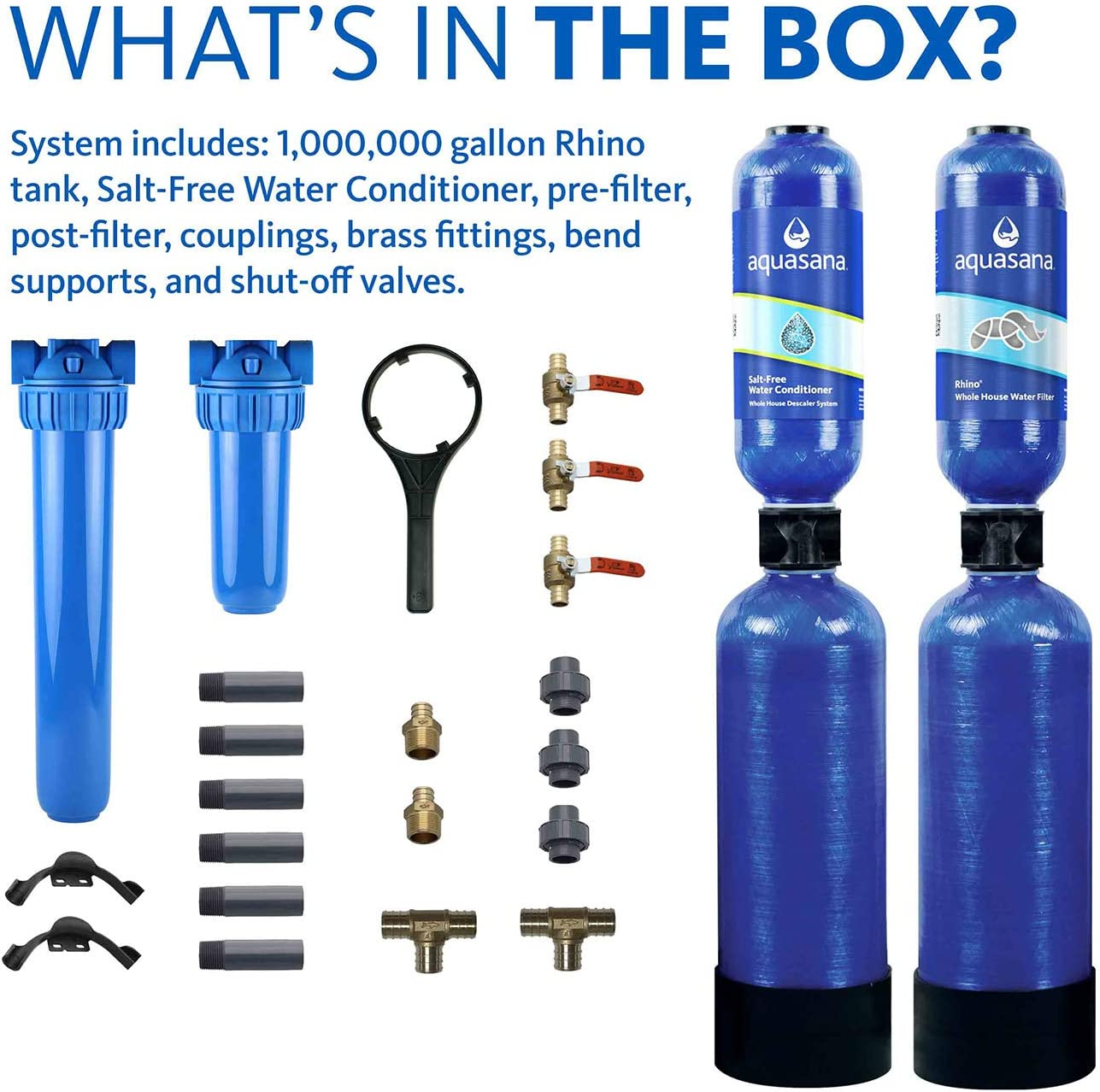 Aquasana EQ-1000-AST Water Conditioner - The Components