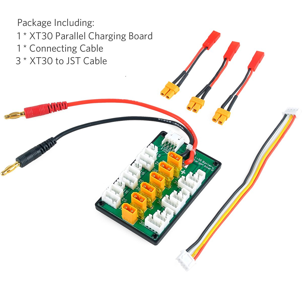 Xt30 Parallel Charging Board For 2s 3s Lipo Batteries Compatible Wiring With Jst Connector Crazepony