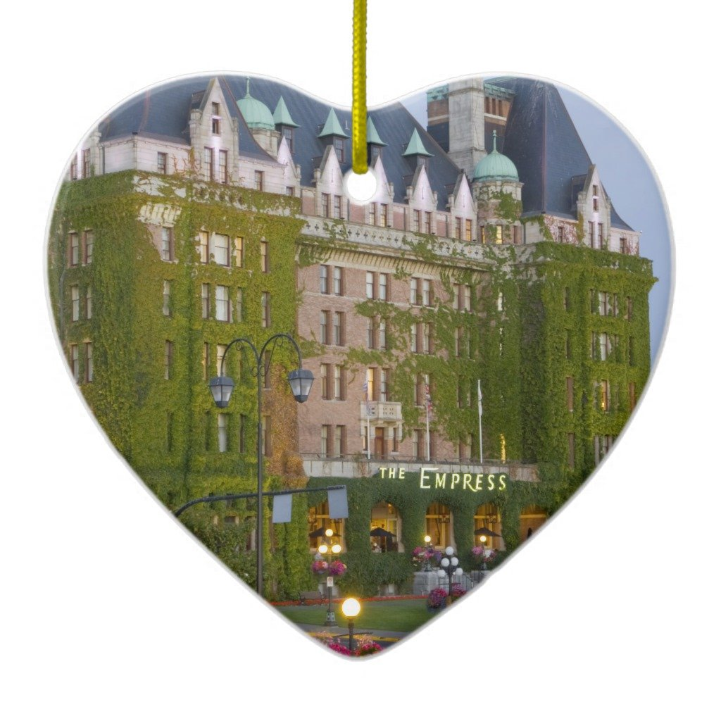 Zazzle The Empress Hotel At the Inner Harbour in Metal Ornament Heart