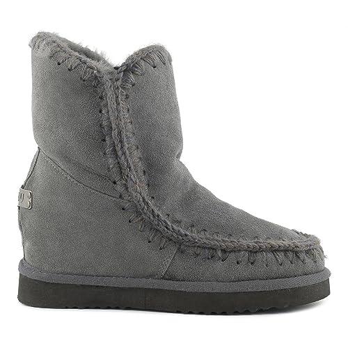 scarpe a buon mercato sconto di vendita caldo il prezzo rimane stabile Mou Stivali Scamosciati con Zeppa Grigio Donna (37): Amazon ...