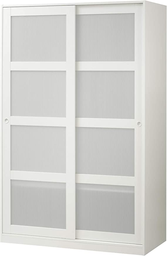 Ikea 1826.888.346 - Armario con 2 puertas correderas, color blanco
