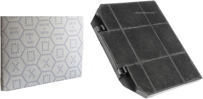 1 Filtros Campana extractora Carbón Activo + 1 gamuza Ariston Smeg Franke 26,6 x 23,6 cm F 39: Amazon.es: Hogar