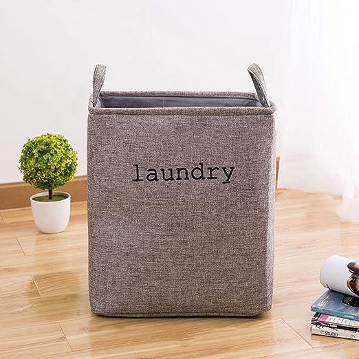 XXHDEE Plegable Tela Grande cesto for la Ropa Cesta de lavandería Juguete Ropa Sucia Caja de Almacenamiento Cesta 35x25x40cm cesto Sucia: Amazon.es: Hogar