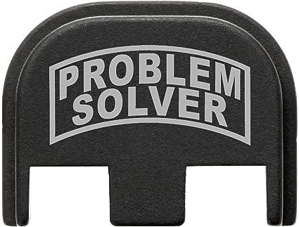 G48 Problem Solver BASTION Laser Engraved Rear Cover Back Plate for Glock Gen 1-5; Model Compatibility in Description Below G43 Does not fit Glock G42 G43X