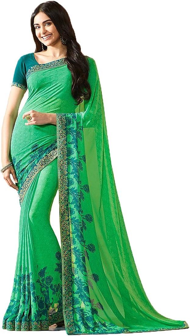 Eid Collection Sari Indian/Pakistani Designer Ethnic Simple Look Saree Starwaik 31