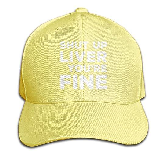 Men/Women Shut Up Liver You're Fine Outdoor Duck Tongue Hats