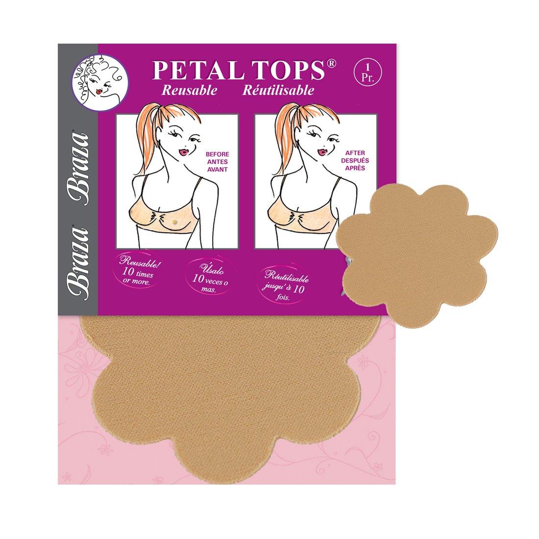 Braza Reusable Breast Petal Top Nipple Covers - 3 pair