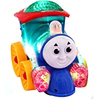 ProductFox Musical Thomas Engine with lights, Bump and go action, Funny Loco (Multicolor)