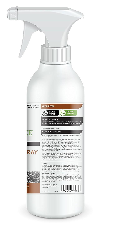 VetriScience Laboratories - vetri-Repel pulgas y garrapatas Spray Repelente al, 16 oz: Amazon.es: Productos para mascotas