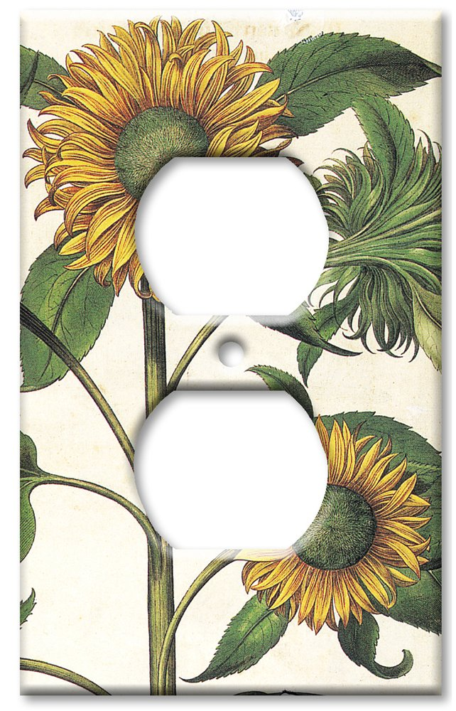 Outlet Cover Wall Plate Sunflowers
