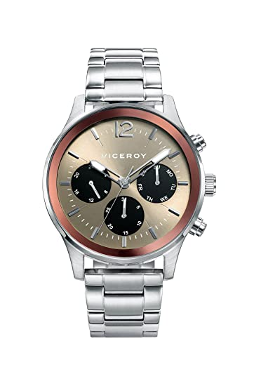 Viceroy Reloj Multiesfera para Hombre de Cuarzo con Correa en Acero Inoxidable 471139-15: Amazon.es: Relojes