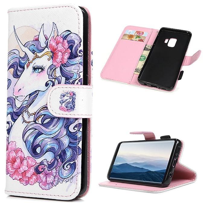 Amazon.com: Galaxy S9 Funda – Mavis s Diary portafolios PU ...