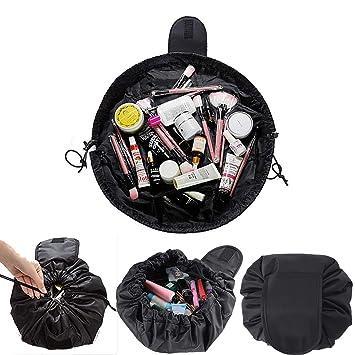e521428f146d Amazon.com : Lazy Cosmetic Bag Quick Makeup Bag Drawstring Magic ...