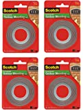 Scotch Exterior Mounting kqVql Tape, 1-Inch by 60-Inch (4 Pack)