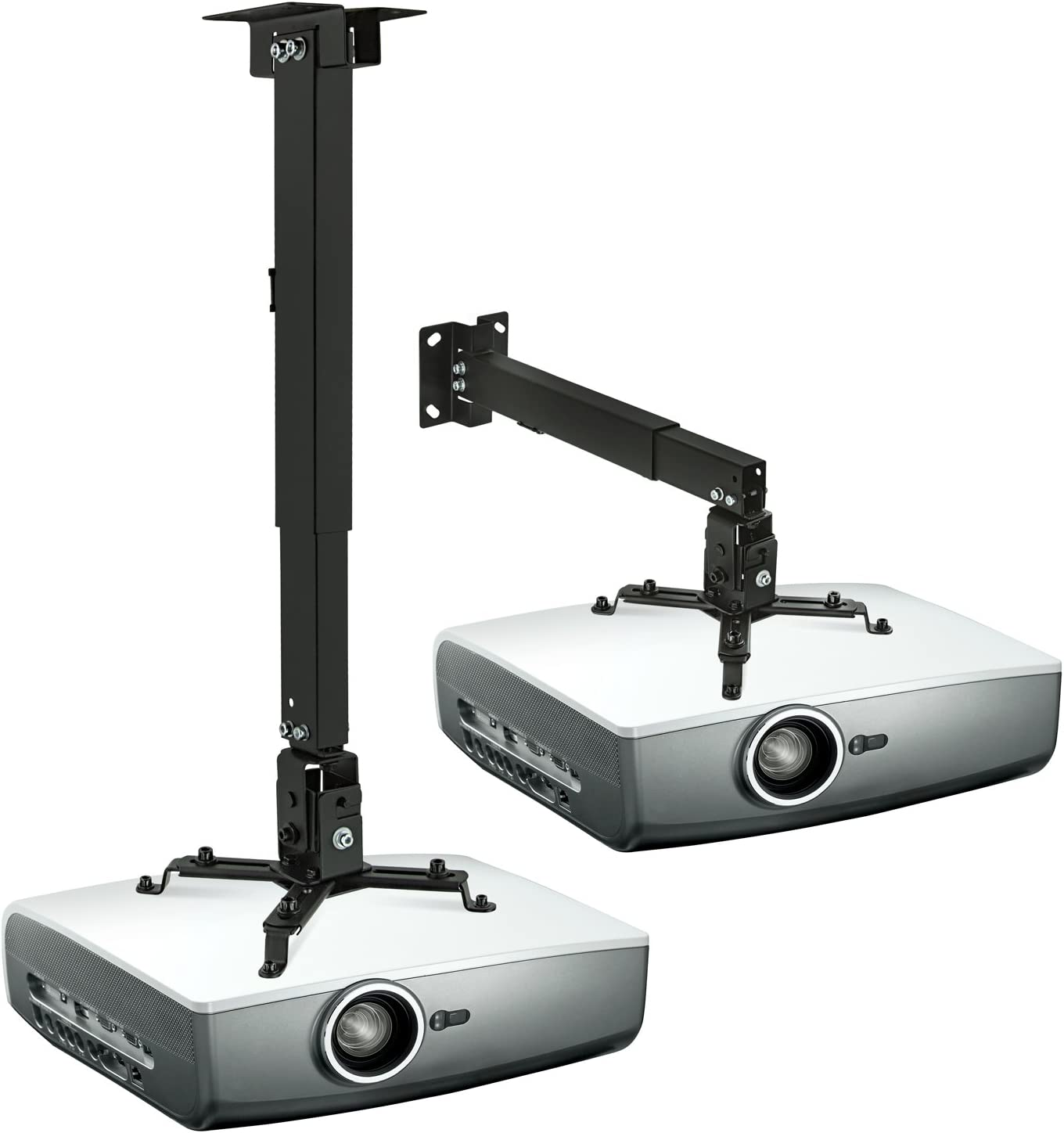 Mount-It! Wall or Ceiling Projector Mount with Universal LCD/DLP Mounting for Epson, Optoma, Benq, ViewSonic Projectors, 44lb Load Capacity, Black: Electronics