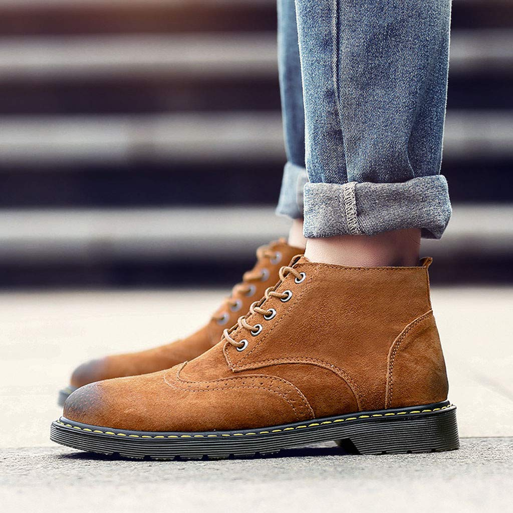 Mens Classic Desert Chukka Boots Casual Lace Up Work Shoes Round Toe Walking Boot