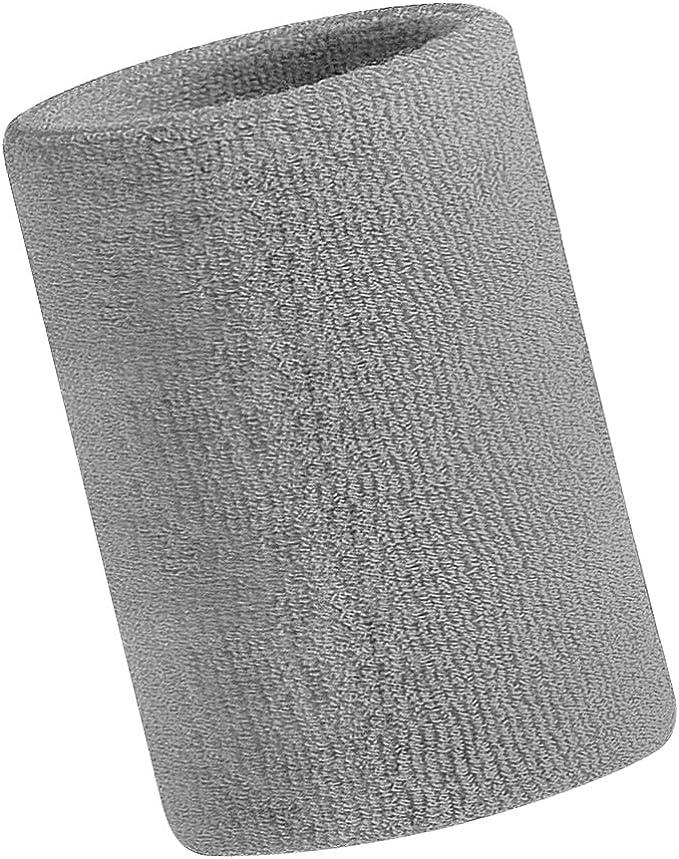 Algodón Rizo Sport Muñequera para el sudor absorbente rizo pulsera muñeca manga Brace para gimnasio, yoga, de baloncesto, de fútbol deportes atléticos, hombre, gris, talla única: Amazon.es: Deportes y aire libre