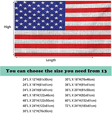 ScottDecor USA Seabed World Backdrop Fourth of July Independence Day Traditional Abstract Square Forms Illustration Decoration Studio Props Indigo Red White L24 X H24 Inch