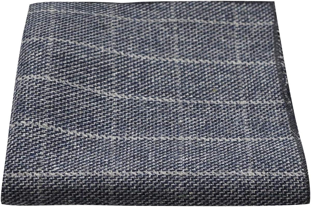 Bow Tie /& Pocket Square Set Stone Blue Birdseye Check Tie