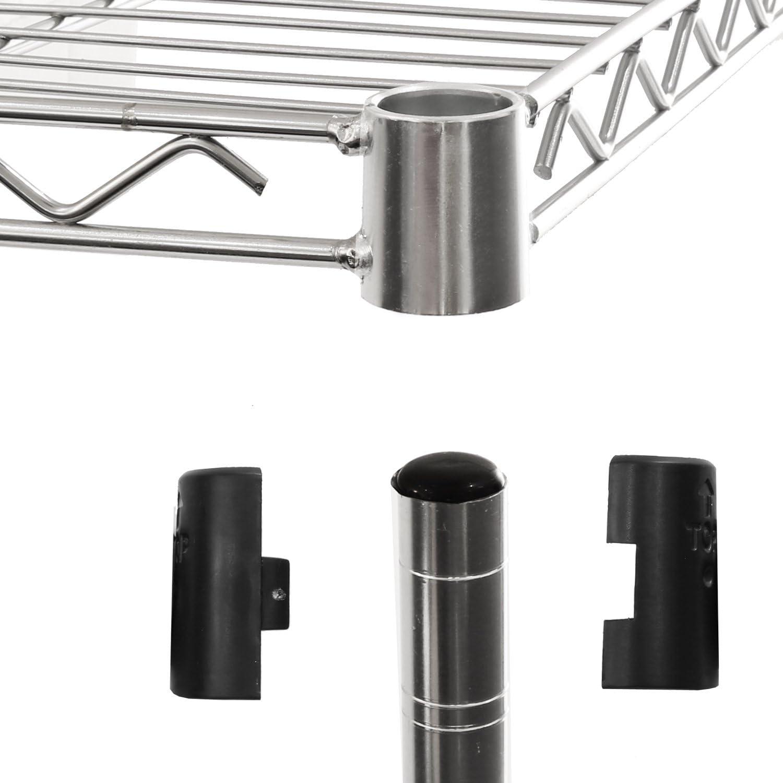Plata 76,2 x 35,6 x 152,4 cm Seville Classics SHE14305ZB estanter/ía con 5 Suelos Metal galvanizado