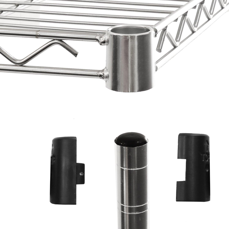 Seville Classics 5-Tier UltraZinc Steel Wire Shelving /w Wheels, 14'' D x 30'' W x  60'' H by Seville Classics (Image #4)