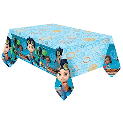 Amscan International Rusty Rivets Amscan 9904159 Printed Plastic Tablecover 1: Toys & Games