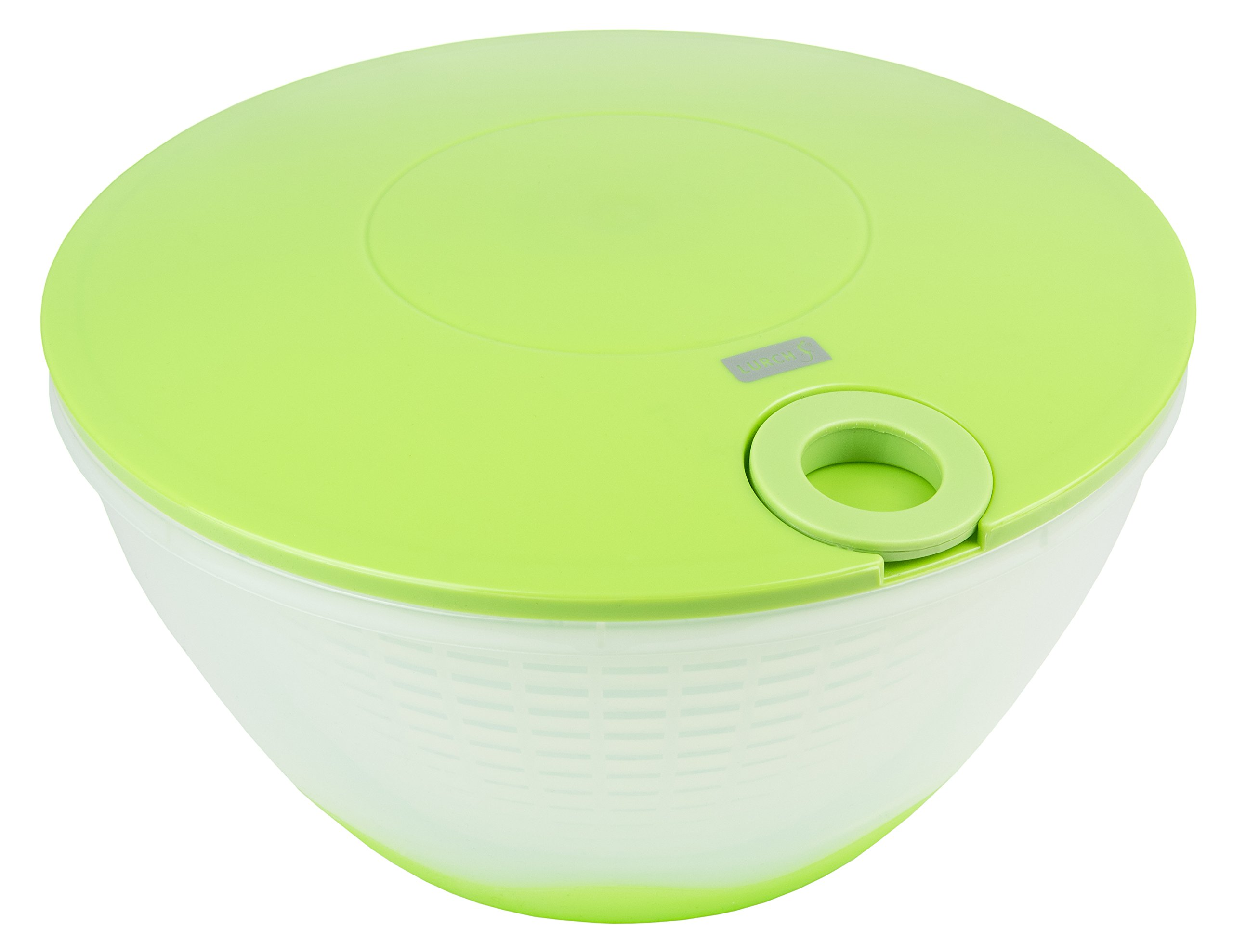 Lurch Germany Salad Spinner with Pull Cord, Green/Cream White