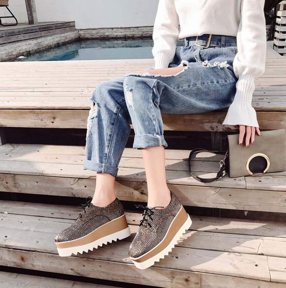 Spitze Auf Quadratischen Zehen Pumpe Plattform Schuhe Frauen 7Cm Schuhes Keil Ferse 4,5 cm Wasserdichte Plattform Casual Schuhes 7Cm Pain Kleider Schuhe EU-Größe 34-40 f19439