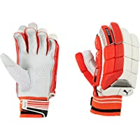 Puma, Cricket, Evo 3 Batting Gloves, Fiery Coral/White, Medium, Right Hand