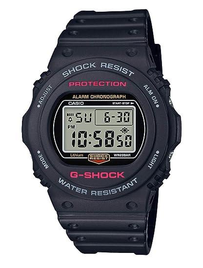 CASIO Reloj Digital para Hombre de Cuarzo con Correa en Resina DW-5750E-1ER: Amazon.es: Relojes
