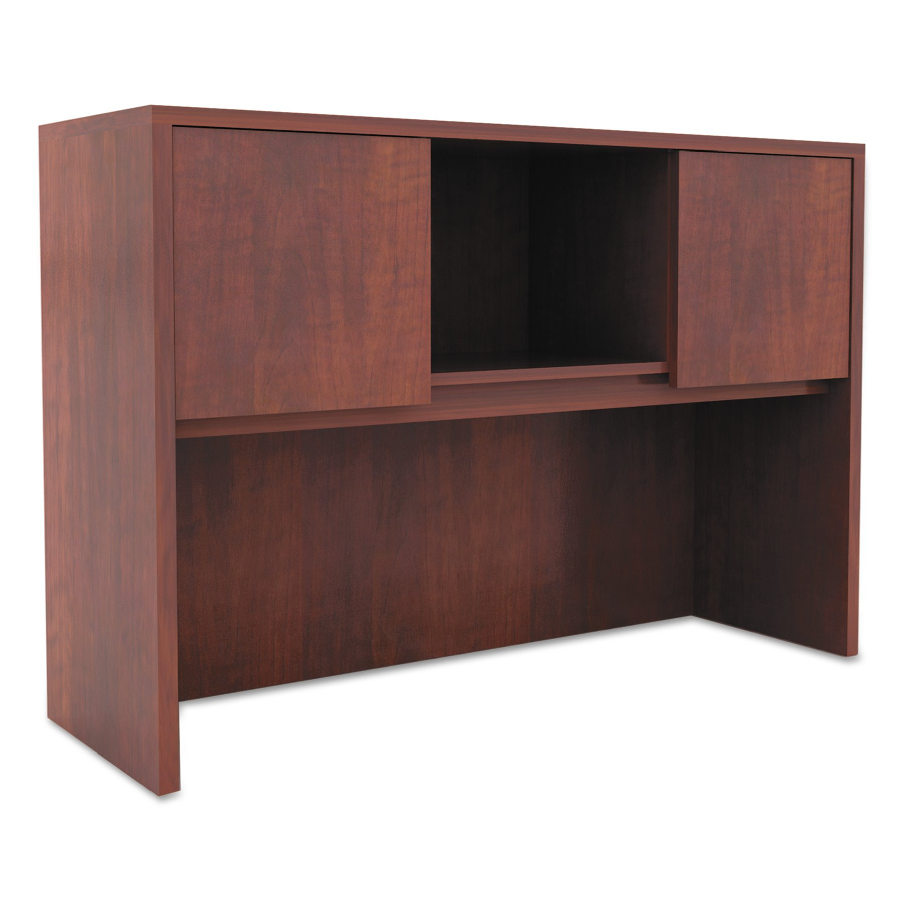 Alera ALEVA284815MC Valencia Series Hutch with Doors, 47w x 15d x 35 1/2h, Medium Cherry by Alera