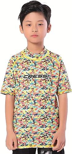 Cressi Rash Guard Short Jr Camiseta Protectora en Tejido elástico Especial