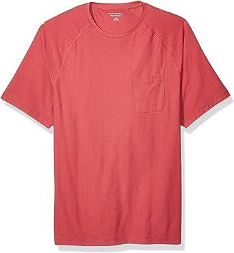 Amazon Essentials - Camiseta regular de raglán con manga corta para hombre