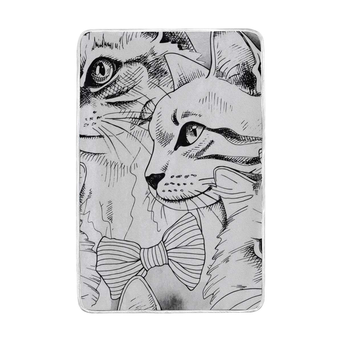 Amazon com loigeidq soft throw blanket cat sketch n draw blankets for nap couch bed kids adults 60 x 90 inch home kitchen