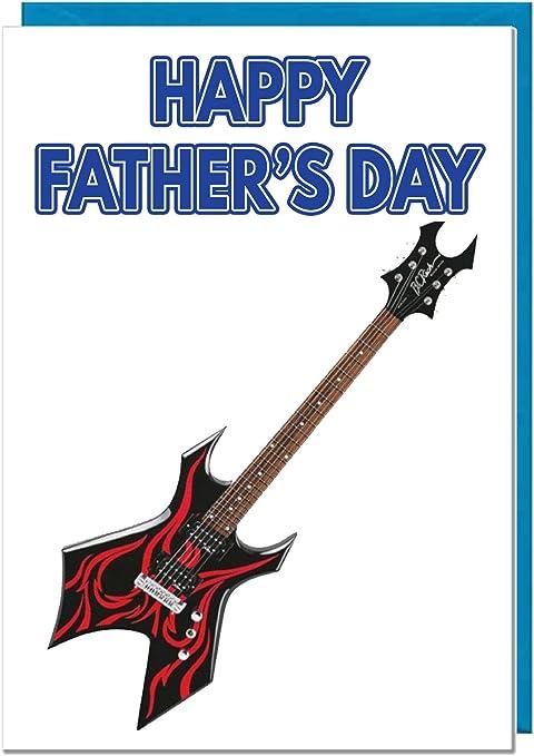 Guitarra Eléctrica, tarjeta de felicitación del día del padre ...