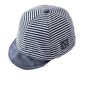 Unisex Baby Fashion Summer Stripe Cotton Sun Hat Baseball Cap Peaked Cap  Children Hat da1761c64