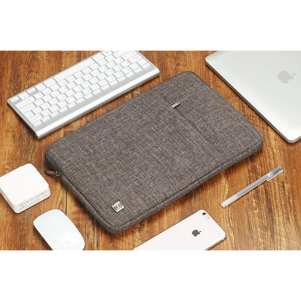 DOMISO 13,3 Pollici Custodia Borsa per Computer Portatile PC Protettiva Laptop Sleeve per 13 MacBook Air A1466 A1369//MacBook Pro Retina A1502 A1425//13.5 Surface Book//13.3 ThinkPad L380 L390,Marrone