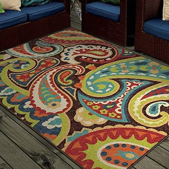 Promise Monteray Paisley Multi-colored Rug 7 8 x 10 10