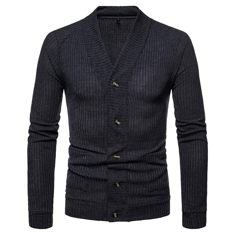 SMALLE ◕‿◕ Clearance,Jacket for Men, Autumn Winter Sweater Pullover Slim Jumper Knitwear Outwear Blouse