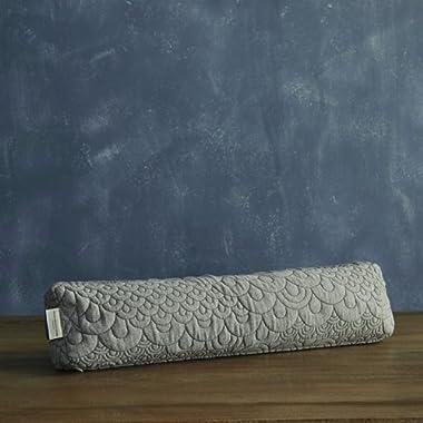 Brentwood Home Crystal Cove Pranayama Yoga Pillow, Buckwheat Fill Restorative Breathing Pillow, Made in California
