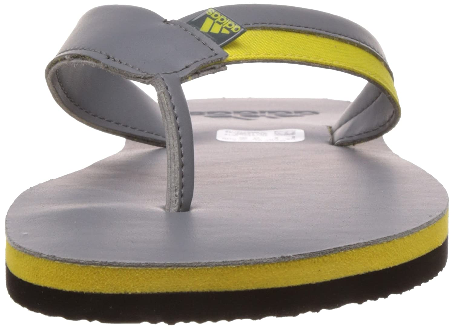 065353550 Adidas Men s Brizo 3.0 Grey and Bright Yellow Flip-Flops and House Slippers  - 11 UK India (46 EU)  Buy Online at Low Prices in India - Amazon.in