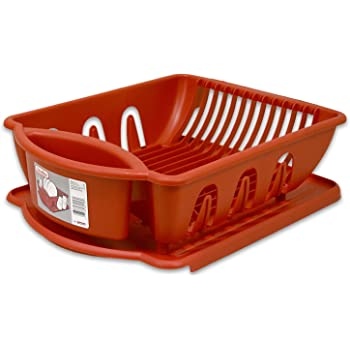 Amazon Com 2pc Ultra Sink Set Red Rubbermaid Dish Rack
