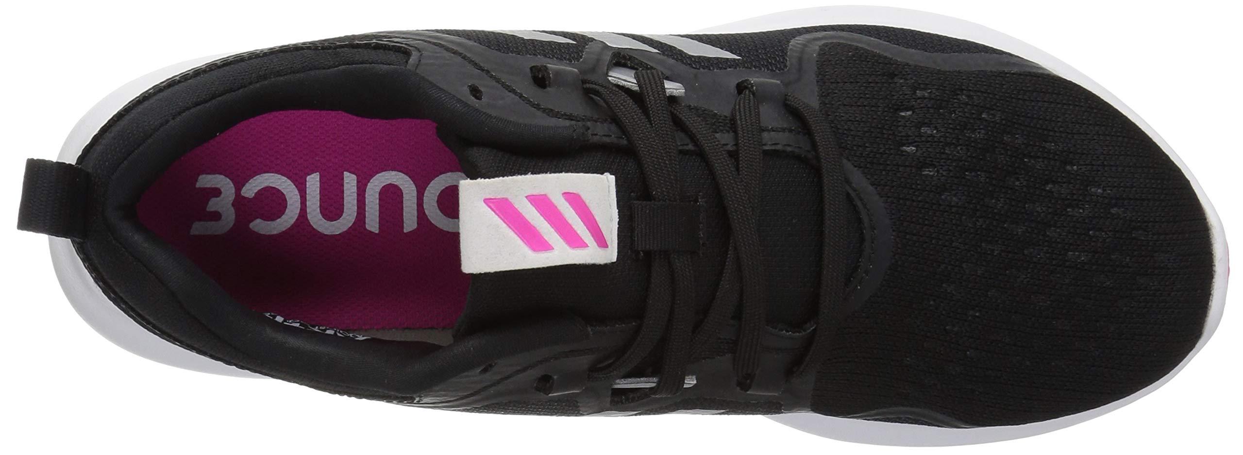 adidas Women's EdgeBounce Running Shoe, Black/Silver Metallic/Shock Pink, 5 M US by adidas (Image #7)